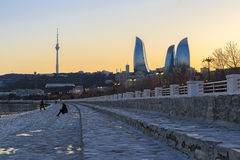 Quay Baku Boulevard Royalty Free Stock Photography