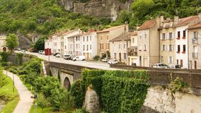 Quay in Cahors town Stock Image