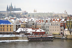 Quay in center of Prague Royalty Free Stock Photo