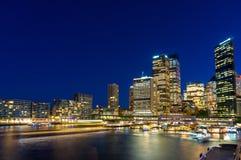 Quay circulaire et Sydney Business District Centre Photos libres de droits