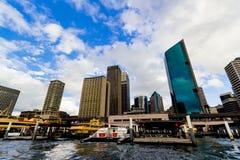 Quay circular en Sydney CBD vista de un transbordador Imágenes de archivo libres de regalías