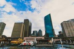 Quay circular en Sydney CBD vista de un transbordador Foto de archivo