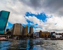Quay circular en Sydney CBD vista de un transbordador Fotografía de archivo