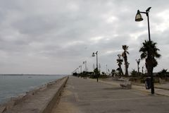 Quay in the city of Cadiz, standing on the Atlantic coast. Stock Photography