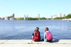 Quay of city pond Royalty Free Stock Image