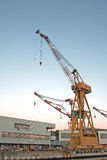 Quay crane. In a industrial landscape Royalty Free Stock Photography