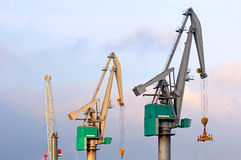 Quay Cranes. Container terminal scene in the Port of Rotterdam Royalty Free Stock Photos