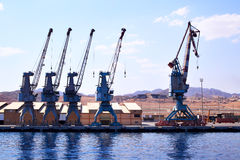 Quay cranes Royalty Free Stock Photos