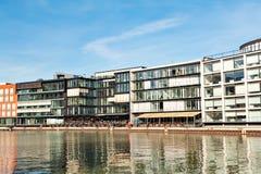 Quay creativo, porto del canale del nster del ¼ di MÃ in Westfalen immagini stock