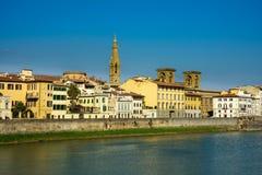 Quay d'Arno River à Florence image libre de droits