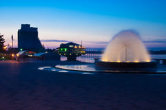 Quay da noite Foto de Stock Royalty Free