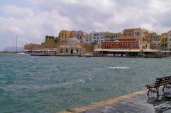Quay dans Chania, Crète Photographie stock