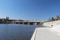Quay dans Vinnitsa, Ukraine Images stock