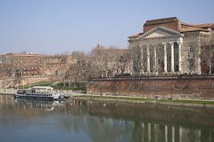 Quay of the Daurade, Toulouse stock image
