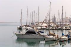 Quay de la ciudad de Heraklion Grecia, isla Creta foto de archivo libre de regalías