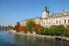 Quay de Seine en París Foto de archivo