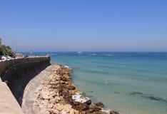 Quay de Tel Aviv, Israel Foto de archivo