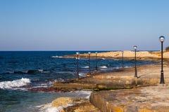 Quay del mare Immagine Stock