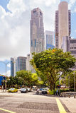 Quay District and UOB Plaza and Downtown Core in Singapore Royalty Free Stock Photography