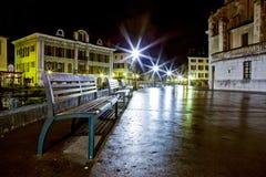 Quay du Semnoz, Annecy, Франция Стоковые Фотографии RF