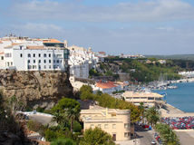 Quay e porto em Mahon, Menorca Fotografia de Stock