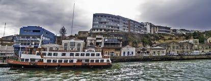 Quay e traghetto Fotografie Stock Libere da Diritti