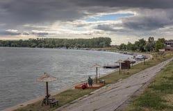 Quay en el río Tisa Imágenes de archivo libres de regalías