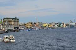 Quay en Kiev foto de archivo