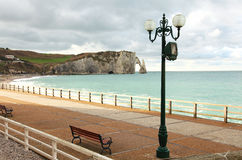 Quay of Etretat Royalty Free Stock Photography