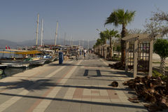 Quay in Fethiye,Turkey Royalty Free Stock Image