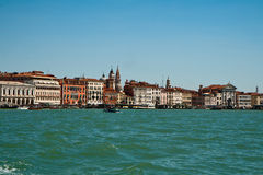 Quay Grand canal in Venice Royalty Free Stock Images