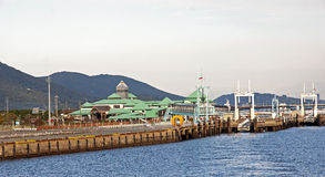 Quay harbor in Kumamoto - Japan stock image