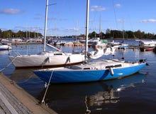 Quay Helsínquia da cidade Fotografia de Stock
