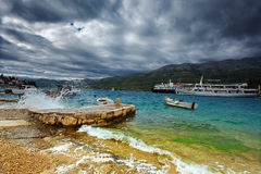Quay in Korcula. Croatia. Royalty Free Stock Photo