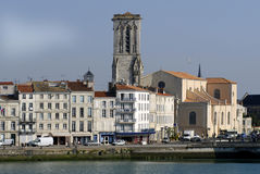 Quay of La Rochelle in France Royalty Free Stock Image