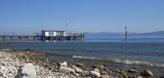 Quay at Lake Constance Stock Images