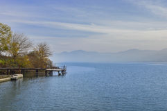 Quay lake. With landscape mountains in background Stock Image
