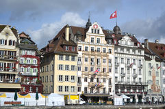 Quay in Lucerne, Switzerland. Royalty Free Stock Photography