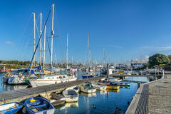 The Quay in Lymington stock photography