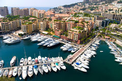 Quay in Monaco. Wide angle view Stock Photography