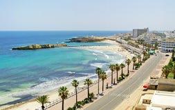 Quay in Monastir, Tunisia. Nice view of quay in Monastir, Tunisia Stock Photo