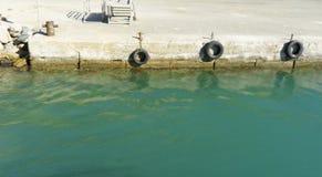 Quay for mooring Stock Photos