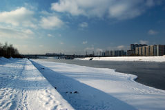 Quay of the Moskva River Royalty Free Stock Images