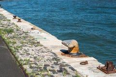 Quay na Tagus rzece, Lisbon (Portugalia) Obraz Royalty Free