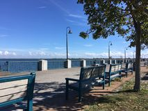 Quay in New York in the Canarsie park area.  royalty free stock photos