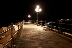 Quay at night Royalty Free Stock Photo