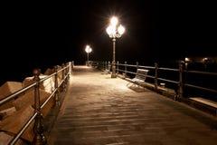 Quay at night Royalty Free Stock Photo