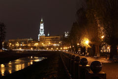 Quay night city Kharkiv Royalty Free Stock Photos