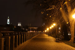 Quay night city Kharkiv Stock Photos