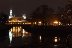 Quay night city Kharkiv Stock Images